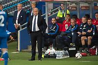 Fotball<br /> 12. Juni 2015<br /> Em kvalifisering<br /> Ullevaal Stadion<br /> Norge - Aserbajdsjan<br /> Landslagstrener Per-Mathias Høgmo noe betenkt<br /> Foto: Astrid M. Nordhaug