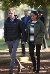 The Duke and Duchess of Sussex arrive at the Moroccan Royal Federation of Equestrian Sports in Rabat on the third day of their tour of Morocco.