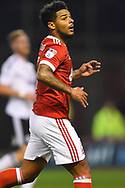 Nottingham Forest midfielder Liam Bridcutt (7) during the EFL Sky Bet Championship match between Nottingham Forest and Fulham at the City Ground, Nottingham, England on 26 September 2017. Photo by Jon Hobley.
