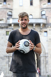 29.06.2015, Severinstorbogen, Koeln, GER, Marco Koenigs im Portrait, im Bild Marco Koenigs (1. FC Koeln) bei einem Interview und Fototermin // Football Player Marco Koenigs from the 1. FC Cologne during a Interview and Photoshooting at the Severinstorbogen in Koeln, Germany on 2015/06/29. EXPA Pictures © 2016, PhotoCredit: EXPA/ Eibner-Pressefoto/ Horn<br /> <br /> *****ATTENTION - OUT of GER*****