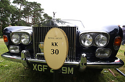 A general view of a parked Roll Royce car during day two of Royal Ascot at Ascot Racecourse.