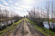 De polder van de Krimpenerwaard, Zuid-Holland.   The dutch polder in the area of the Krimpenerwaard, South Holland