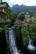 Cevennes. landscape  Florac village    France  Cevennes. paysage, Florac a l'entree de la corniche des Cevennes    France