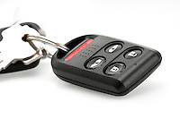 Close up of remote keyless control for car.