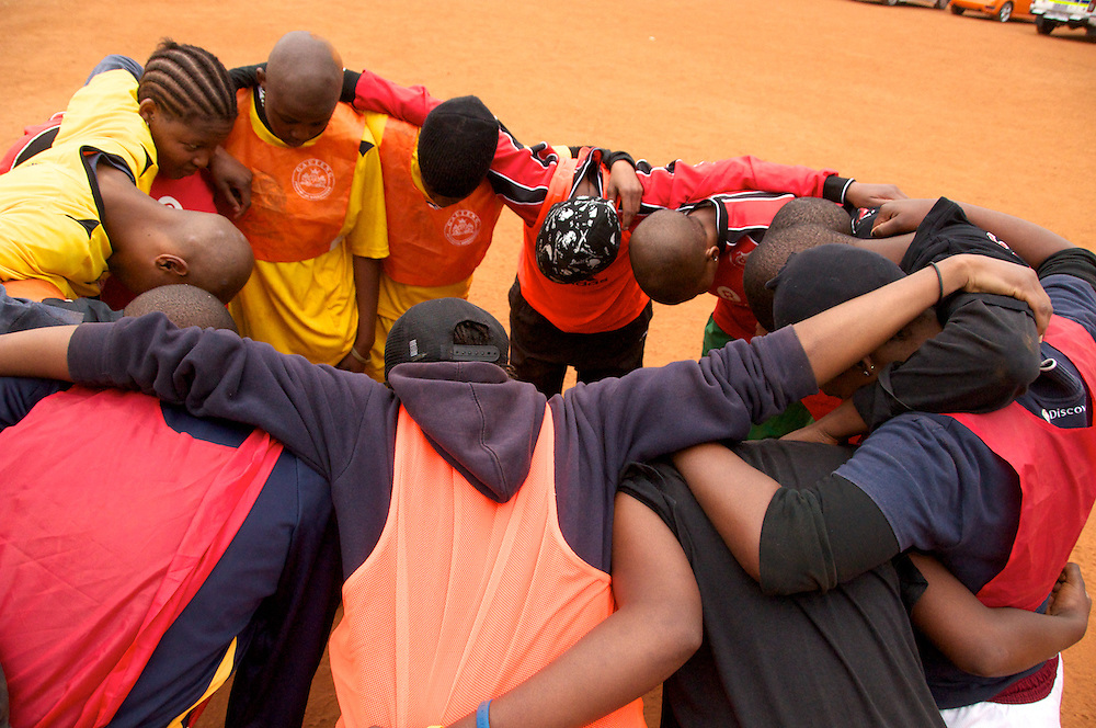 The openly lesbian South African soccer team, Chosen Few practices for the Gay Games in Germany during the World Cup in July 2010.