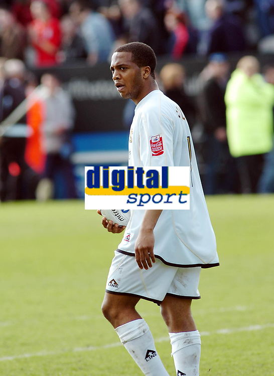 Photo: Kevin Poolman.<br /> Milton Keynes Dons v Tranmere Rovers. Coca Cola League 1. 29/04/2006. MK player Wade Small walks off at the end.