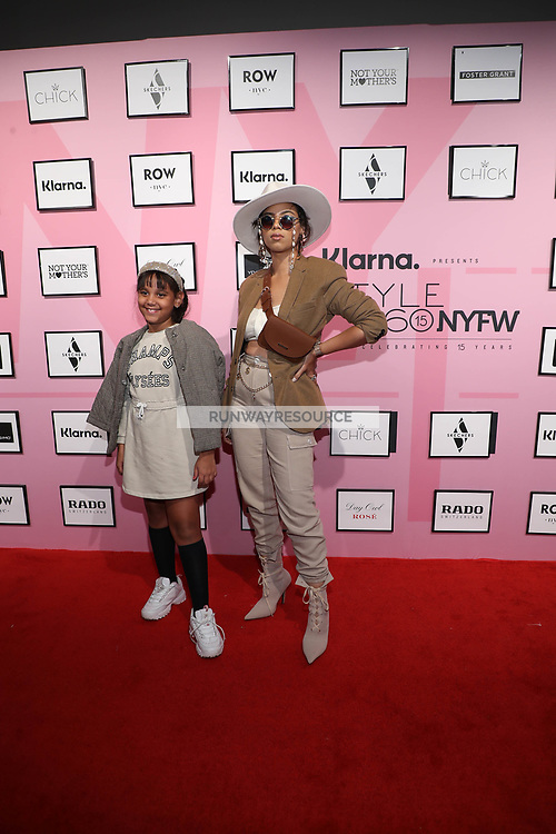 Jheiralys and Walibel attend Klarna STYLE360 NYFW Hosts Chick And Ydamys Simo Runway Show
