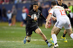 November 3, 2018 - Chicago, IL, U.S. - CHICAGO, IL - NOVEMBER 03: Maori All Blacks Reagan Ware (11)  runs with the ball in action during the Rugby Weekend match between the New Zealand Maori All Blacks and the USA Eagles on November 3, 2018 at Soldier Field, in Chicago, Illinois.  (Photo by Robin Alam/Icon Sportswire) (Credit Image: © Robin Alam/Icon SMI via ZUMA Press)