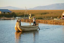 Reed Boat Near Floating Island