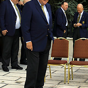UEFA's Executive Committee met in Istanbul.  Historical meeting in Istanbul UEFA's Executive Committee. His toenails broken because of that he was walking with slepers Lennart Johansson.<br /> Photo by Aykut AKICI/TurkSporFoto