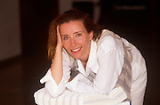 English actress, Emma Thompson publicises her movie Howards End at a photocall, on 10th May 1992 at the 45th Cannes Film Festival, France.