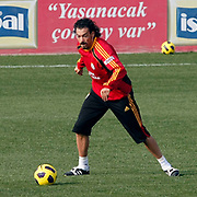Galatasaray's players Servet CETIN during their training session at the Jupp Derwall training center, Thursday, January 13, 2010. Photo by TURKPIX