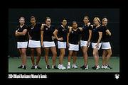 2004 Miami Hurricanes Women's Tennis Team Photo
