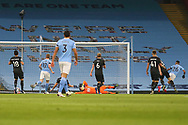 GOAL 1-0 Manchester City midfielder Riyad Mahrez (26) scores a goal during the Premier League match between Manchester City and Burnley at the Etihad Stadium, Manchester, England on 28 November 2020.