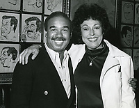 1978 Bobby Short & Ruth Olay pose at the Hollywood Brown Derby restaurant on Vine St.