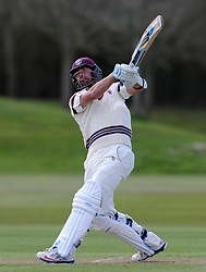 Somerset's Tim Groenewald - Photo mandatory by-line: Harry Trump/JMP - Mobile: 07966 386802 - 24/03/15 - SPORT - CRICKET - Pre Season Fixture - Day 2 - Somerset v Glamorgan - Taunton Vale Cricket Club, Somerset, England.