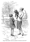 """Peggy. """"Poor darling! Isn't it a blessing it's only his left paw?"""""""
