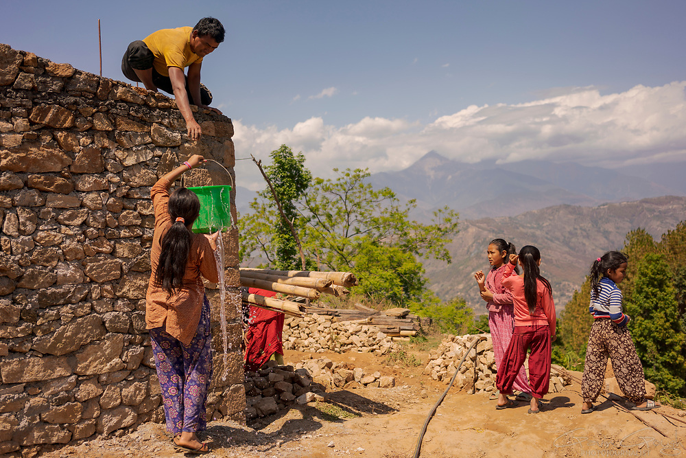 A home construction nearing completion in a village which was almost completely destroyed during the 2015 earthquake, Kakani, Nuwakot District, Nepal