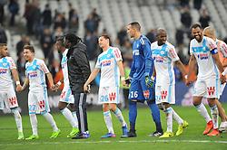 March 10, 2017 - Marseille, France - 26 FLORIAN THAUVIN (om) - 27 MAXIME LOPEZ (om) - 24 ROD FANNI (om) - 06 JORGE ROLANDO (om) - JOIE (Credit Image: © Panoramic via ZUMA Press)