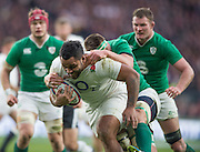 Twickenham. Great Britain.<br /> Billy VUNIPOLA, breaking witht ball during the <br /> RBS Six Nations Rugby, England vs Ireland at the RFU Twickenham Stadium. England.<br /> <br /> Saturday  27/02/2016. <br /> <br /> [Mandatory Credit; Peter Spurrier/Intersport-images]