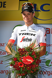 July 21, 2018 - Mende, FRANCE - Belgian Jasper Stuyven of Trek-Segafredo receives the combativity award for the most aggressive rider after the 14th stage in the 105th edition of the Tour de France cycling race, from Saint-Paul-Trois-Chateaux to Mende (188km), France, Saturday 21 July 2018. This year's Tour de France takes place from July 7th to July 29th. BELGA PHOTO DAVID STOCKMAN (Credit Image: © David Stockman/Belga via ZUMA Press)