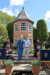 Left to right, PHILIP TREACY and DIARMUID GAVIN at the 2016 RHS Chelsea Flower Show, Royal Hospital Chelsea, London on 23rd May 2016