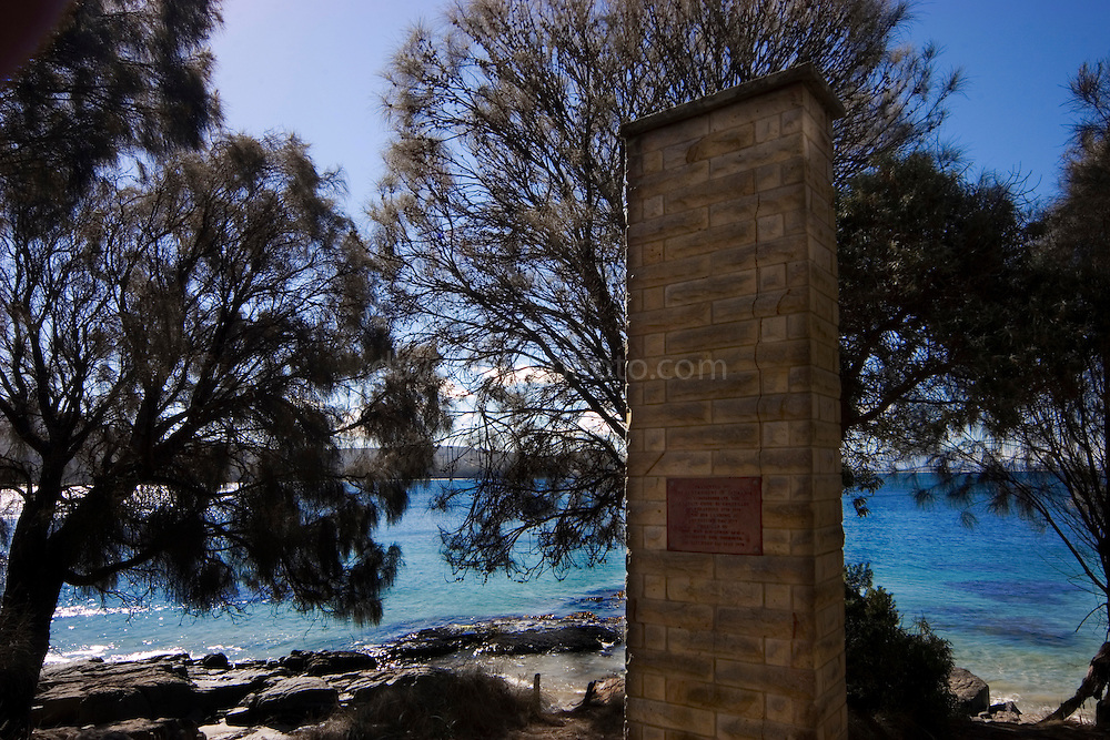 Captain Cook Monument, Adventure Bay, Bruny Island, Tasmania...