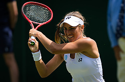 July 1, 2019 - London, GREAT BRITAIN - Monica Puig of Puerto Rico in action during the first round of the 2019 Wimbledon Championships Grand Slam Tennis Tournament against Anna Karolina Schmiedlova of Slovakia (Credit Image: © AFP7 via ZUMA Wire)