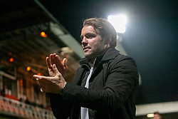 Dundee United's manager Robbie Neilson at the end. Dundee United 4 v 0 Ayr United, Scottish Championship game played 21/12/2019 at Dundee United's stadium Tannadice Park.