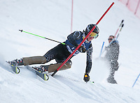Eastern Cup FIS slalom alpine ski race men 1st run at Cranmore, North Conway, NH  January 29, 2012.