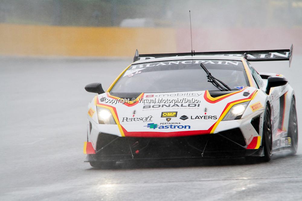 #34, Lamborghini Gallardo, Bonaldi Motorsport, D.Perell/R.Vera , Lamborghini BlancPain Super Trofeo 2015