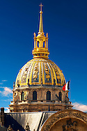 Paris - France - Les Invalides .<br /> <br /> Visit our FRANCE HISTORIC PLACES PHOTO COLLECTIONS for more photos to download or buy as wall art prints https://funkystock.photoshelter.com/gallery-collection/Pictures-Images-of-France-Photos-of-French-Historic-Landmark-Sites/C0000pDRcOaIqj8E