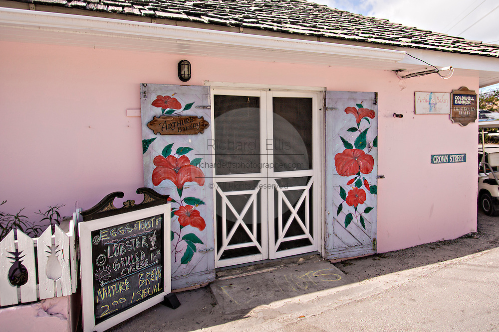 Local landmark Arthurs Bakery in Dunmore Town, Harbour Island, The Bahamas
