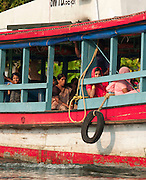 A water taxi near Alappuzha in the Kerala Backwaters, India