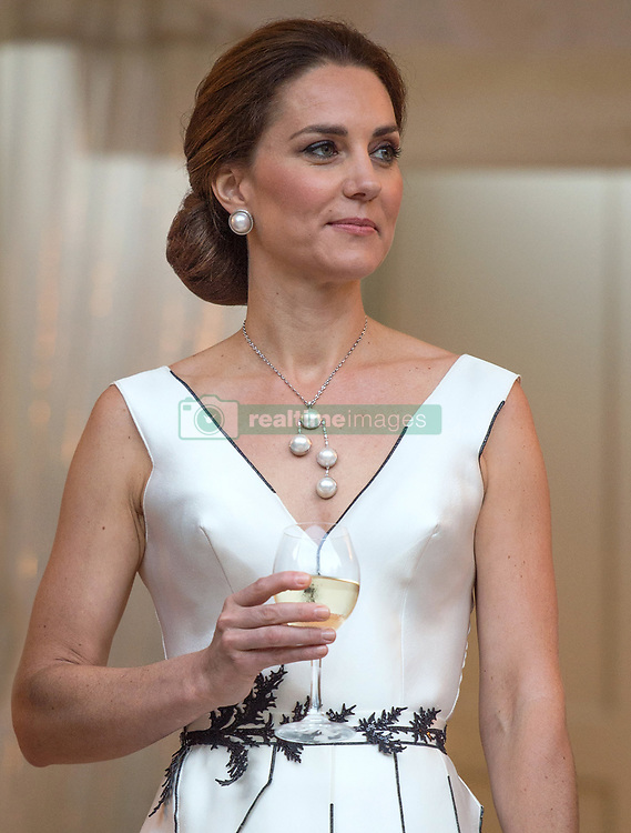 The Duke and Duchess of Cambridge attend The Queen's Birthday Garden Party at the Orangery, Lazienki Park in Warsaw, Poland, on the 17th July 2017. 17 Jul 2017 Pictured: Catherine, Duchess of Cambridge, Kate Middleton. Photo credit: MEGA TheMegaAgency.com +1 888 505 6342