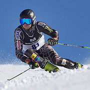 Andreas Knauss, Austria, in action during the Men's Giant Slalom competition at Coronet Peak, New Zealand during the Winter Games. Queenstown, New Zealand, 22nd August 2011. Photo Tim Clayton