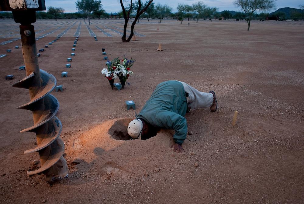 Mike Reyes, veteran's burial, National Memorial Cemetery of Arizona