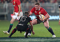 Rugby Union - 2017 British & Irish Lions Tour of New Zealand - Crusaders vs. British & Irish Lions<br /> <br /> Tadhg Furlong of The British and Irish Lions and Richie Mo'unga of The Crusaders at AMI Stadium [Rugby League Park], Christchurch.<br /> <br /> COLORSPORT/LYNNE CAMERON