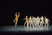 MANHATTAN, NEW YORK, OCTOBER 19, 2016 Alban Lendorf, the newest male principal at ABT, is seen onstage during his debut performance with the company, performing two ballets, Symphonic Variations and The Brahms Haydn Variations, at the Koch Theater in Lincoln Center in Manhattan, NY.  Lendorf is seen during the second dance. 10/19/2016 Photo by ©Jennifer S. Altman/For The New York Times