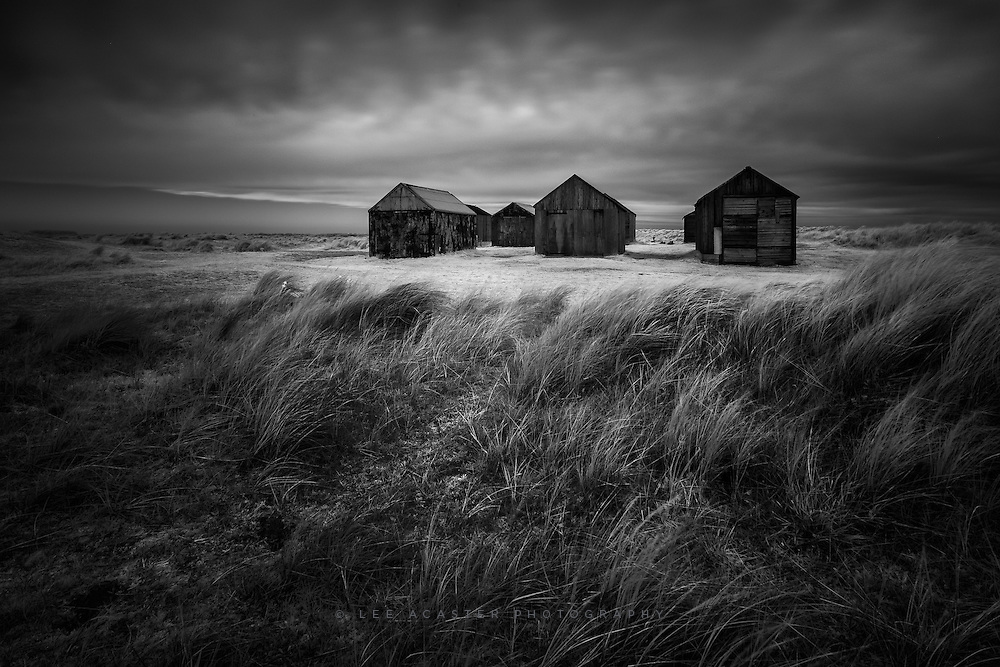 This is from last week, after sunrise at Happisburgh, the sky went a bit dark and grey so headed to Winterton On Sea to shoot these huts which really suit a brooding atmosphere.