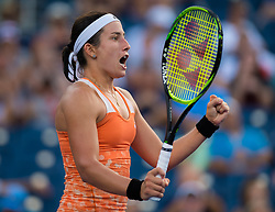 September 2, 2018 - Anastasija Sevastova of Latvia in action during her fourth-round match at the 2018 US Open Grand Slam tennis tournament. New York, USA. September 02th, 2018. (Credit Image: © AFP7 via ZUMA Wire)