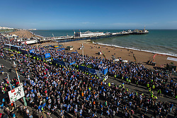 Brighton & Hove Albion open bus parade passes by Brighton Pier - Mandatory by-line: Jason Brown/JMP - 14/05/17 - FOOTBALL - Brighton and Hove Albion, Sky Bet Championship 2017 - Brighton and Hove Albion Promotion Parade