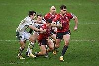 Rugby Union - 2020 / 2021 Gallagher Premiership - Gloucester vs Northampton Saints - Kingsholm<br /> <br /> Gloucester's Mark Atkinson breaks clear.<br /> <br /> COLORSPORT/ASHLEY WESTERN
