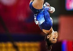 October 28, 2018 - Doha, Quatar - Melanie Jesus De Dos Santos of France   during  Balancing Beam qualification at the Aspire Dome in Doha, Qatar, Artistic FIG Gymnastics World Championships on 28 of October 2018. (Credit Image: © Ulrik Pedersen/NurPhoto via ZUMA Press)