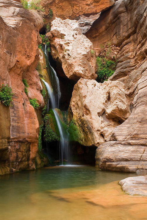 Waterfall in Elves Chasm, Grand Canyon National Park, Arizona.