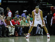 March 17, 2010; Houston, TX, USA; Houston Rockets guard Shane Battier (31) sticks out his tongue against the Memphis Grizzlies in the fourth quarter at the Toyota Center. The Rockets won 107-94. Mandatory Credit: Thomas Campbell-US PRESSWIRE