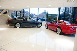 Hatfields Jaguar Sharrowvale Road Sheffield Newly Refurbished Showroom..10 January 2010.Images © Paul David Drabble