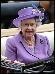 HM The Queen arrives for  Ladies Day at Royal Ascot 2013 Ascot, United Kingdom,<br /> Thursday, 20th June 2013<br /> Picture by Andrew Parsons / i-Images