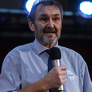 London, UK, 24th October 2017. Speaker Kevin Courtney - General Secretary of the National Union of Teachers at the Rally Against School Cuts with over 1,000 parents and school staff lobbying more than two-thirds of the MPs in England and Wales at Emmanuel Centre.