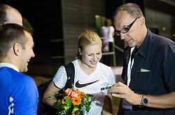 Maja Mihalinec and Srdjan Djordjevic during 20th European Athletics Classic Meeting in Honour of Miners' Day in Velenje on July 1, 2015 in Stadium Velenje, Slovenia. Photo by Vid Ponikvar / Sportida